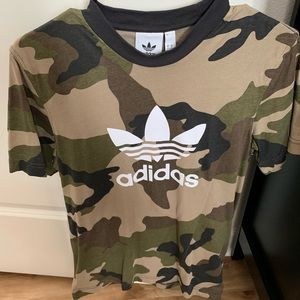 Adidas trefoil camouflage tee